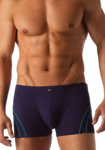 Modré bavlnené boxerky MXH285