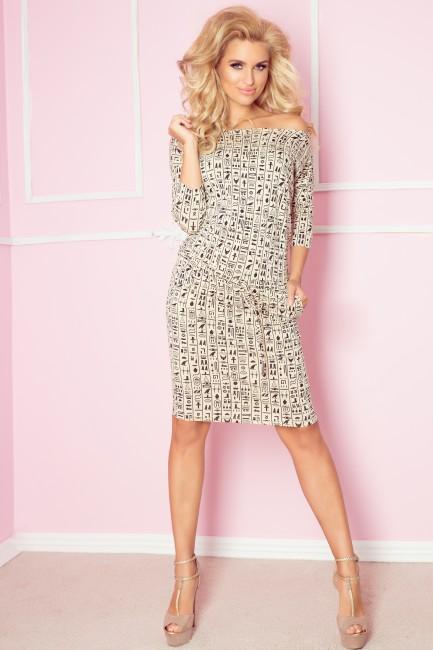 82460c70c49d Béžové dámske šaty s potlačou EGYPT 13-37 - JOIE.SK