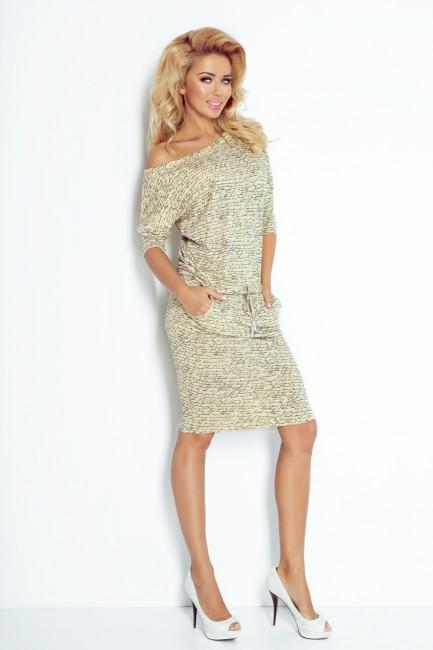 Béžové dámske šaty s písmenkami - JOIE.SK 5be225fcfd2