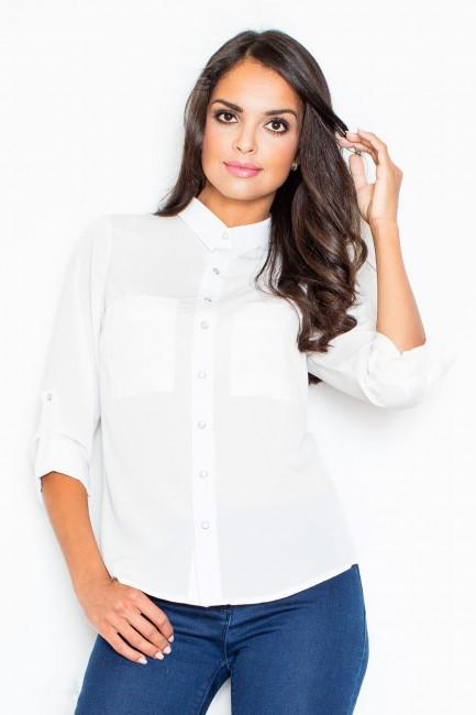 Biela dámska košeľa FG M384 be567849806