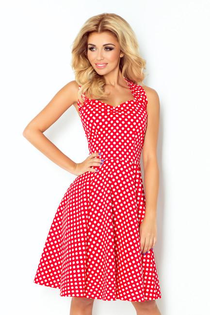 4e05a8dd962d Červené retro šaty s bodkami zväčšiť obrázok