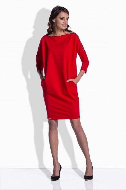5557c34e8f9a Červené šaty s detailom na ramene 158 - JOIE.SK
