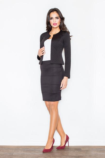 74ceb4df5cd3 Čierna krátka dámska sukňa M084 - JOIE.SK