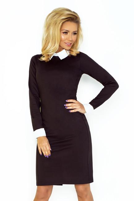 51edb5e380e0 Čierne šaty s bielym golierom 143 1 - JOIE.SK