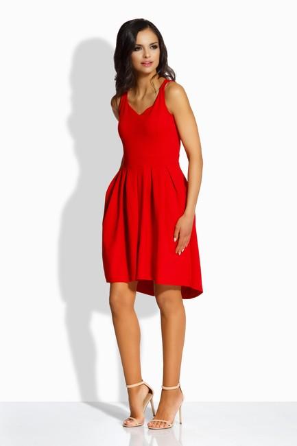802021046b1e Dámske áčkové šaty s vreckami v červenej farbe L210 zväčšiť obrázok
