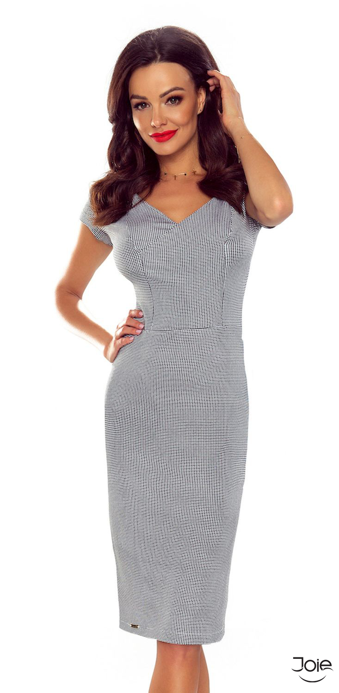 Dámske midi puzdrové šaty kockovaného vzoru 107-07 zväčšiť obrázok ecb390364d9