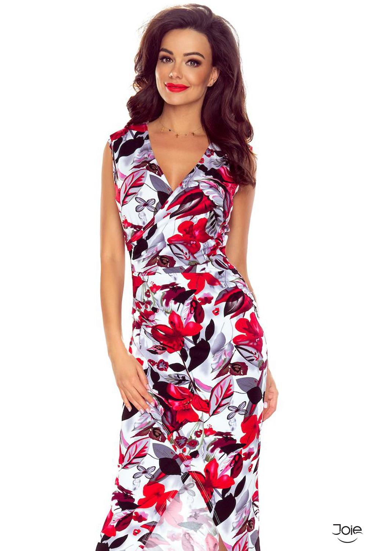 796a8f1f1acd Dlhé puzdrové letné šaty s červenými kvetmi 108-01 zväčšiť obrázok