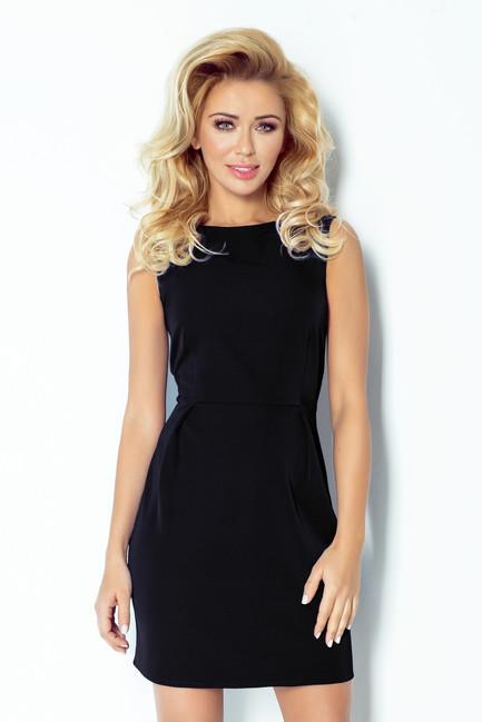 Elegantné čierne krátke šaty 103 3 - JOIE.SK 4ddad2be6cc