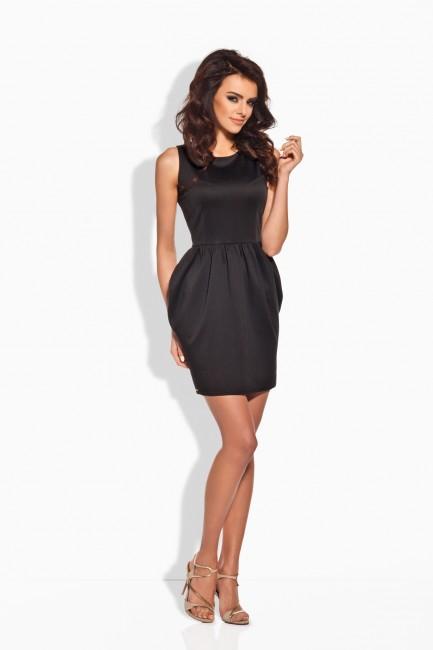 Elegantné čierne koktejlové šaty L141 zväčšiť obrázok f1cad8b4430