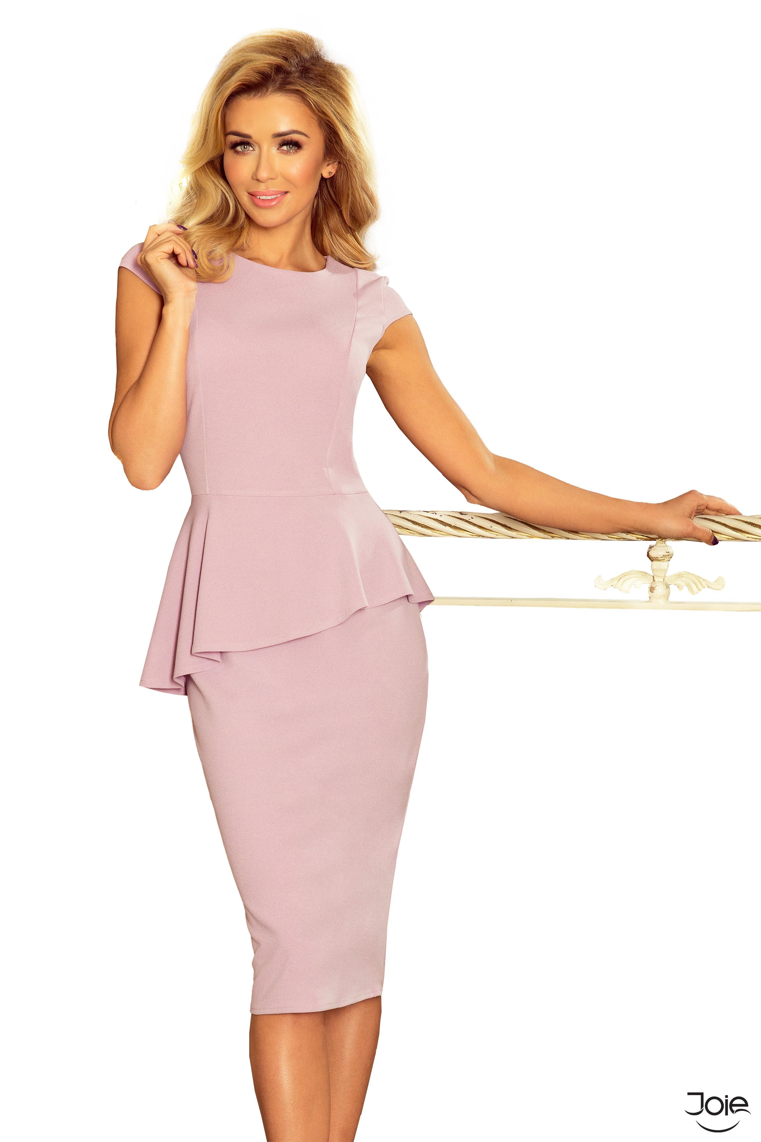d4a5aaf23dc7 Fialové midi dámske šaty s volánom 192-2 zväčšiť obrázok