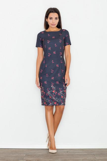627f728a6b Granátové kvietkované dámske šaty M536 - JOIE.SK