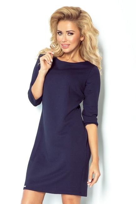5857ee9ddef1 Hrubé dámske šaty v modrej farbe 107 2 - JOIE.SK