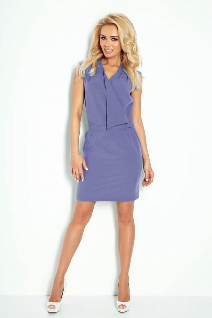 987c96049485 Jasnomodré dámske šaty s preloženým výstrihom - JOIE.SK