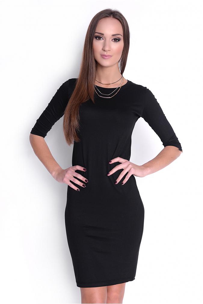 Jednoduché čierne priliehavé šaty - JOIE.SK 0bc2884542e