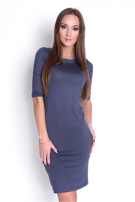Jednoduché tmavo sivé priliehavé šaty OX8194 - JOIE.SK 38dcb1e36e2