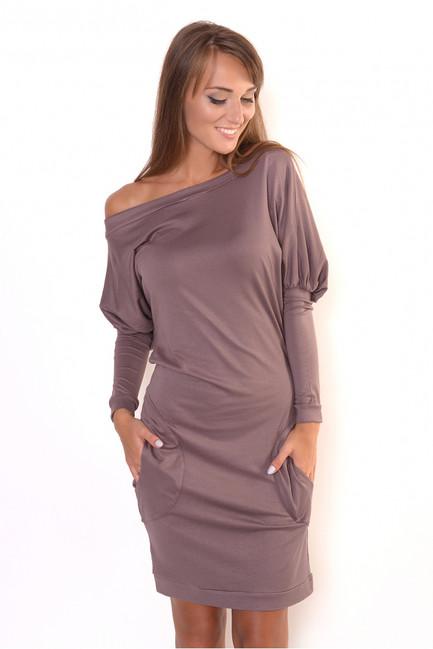 46546c601 Kapučínové šaty s vreckami OX8215 - JOIE.SK