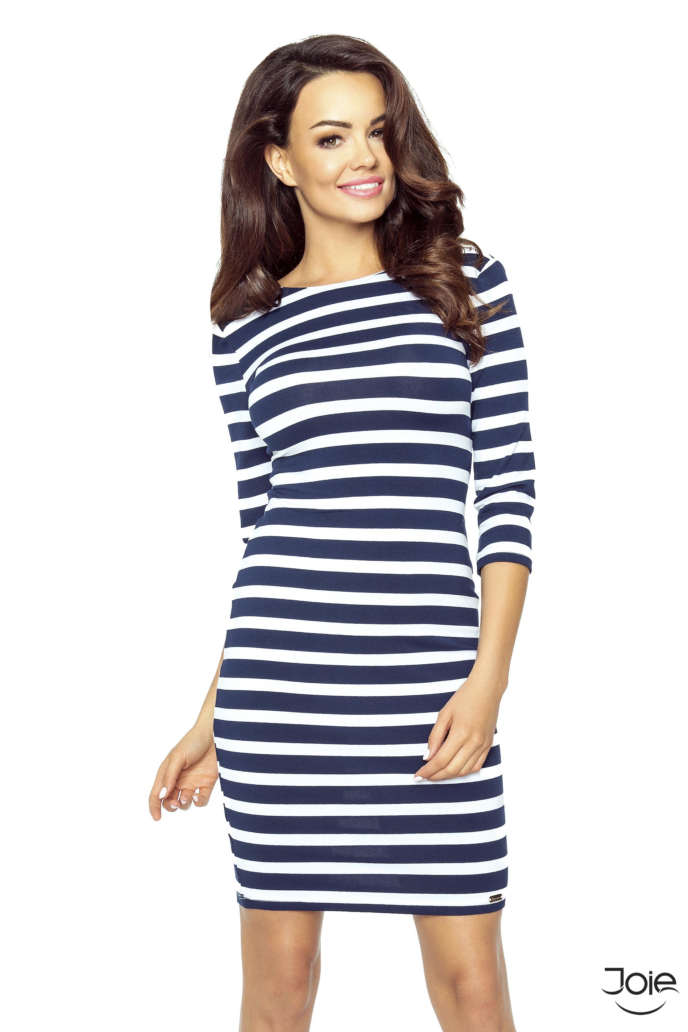 Krátke elastické námornicke dámske šaty 27-16 zväčšiť obrázok a9a87b8ad3e