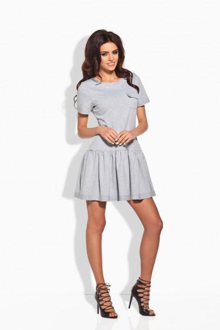 Krátke dámske šaty šedé 143 - JOIE.SK 7320463f26c
