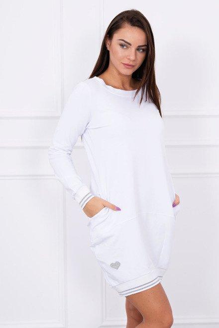 1a987aebacbe Krátke športové biele šaty s vreckami Esilla K10649 zväčšiť obrázok