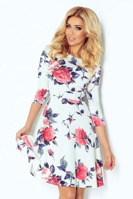 Kvetované šaty s 3 4 rukávom 49 13 zväčšiť obrázok 9203058805f