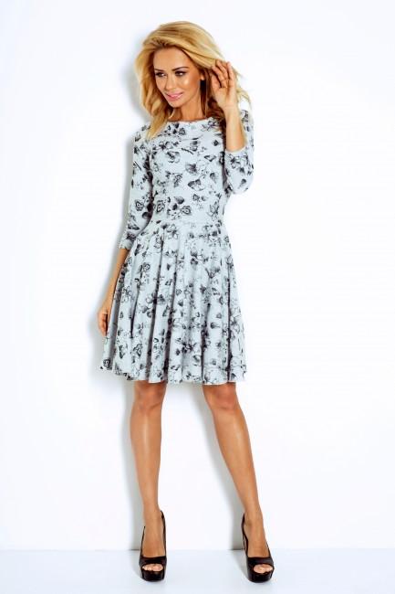 72096ca0cbd4 Kvietkované dámske šaty s 3 4 rukávom 115-3 - JOIE.SK