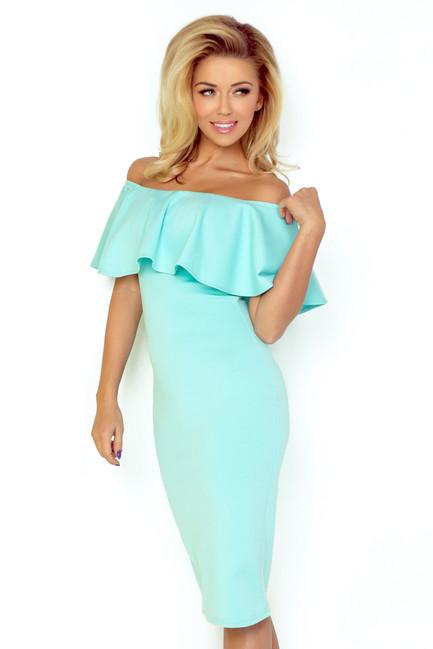 800914d489466 Slávnostné svetlo modré šaty s volánom 138/1 - JOIE.SK