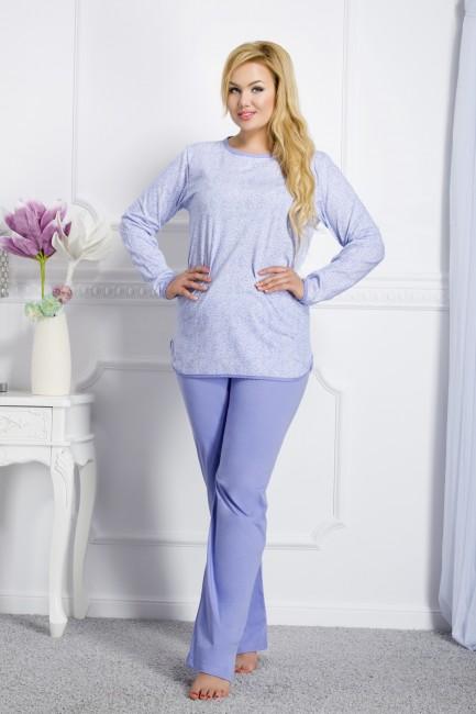 f817d8dac Modré dámske pyžamo Boženka 145 - JOIE.SK