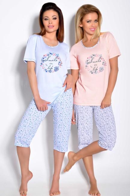 1345602f90a7 Modré pyžamo Magda 009 - JOIE.SK