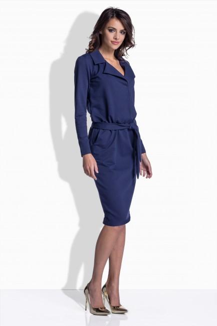 4790db5d4 Modré dámske šaty s opaskom 161 - JOIE.SK