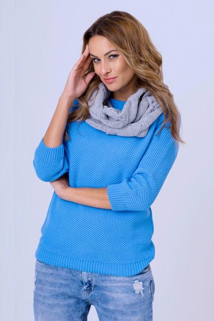 87b451879f7d Dámske svetre. Modrý pletený pulóver Honey zväčšiť obrázok