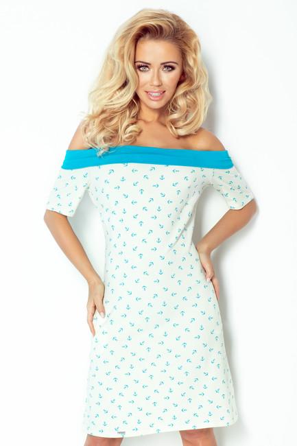 1ae628ceb00c Plážové letné šaty s kotvami 100 1 - JOIE.SK