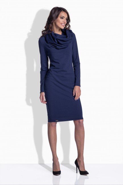 Priliehavé dámske šaty v modrej farbe 159 - JOIE.SK a45d2aded24