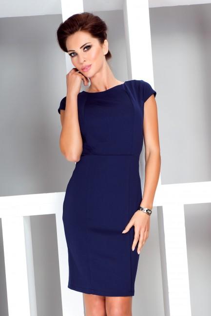 8f103e29e15d Puzdrové šaty v tmavomodrej farbe 37 2 - JOIE.SK