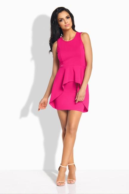 Puzdrové tmavo ružové šaty so zdvojenou sukňou L187 zväčšiť obrázok 1703ce1d923