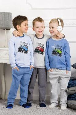 Chlapčenské pyžamo Nataniel šedé k2