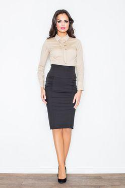 Čierna puzdrová sukňa M044