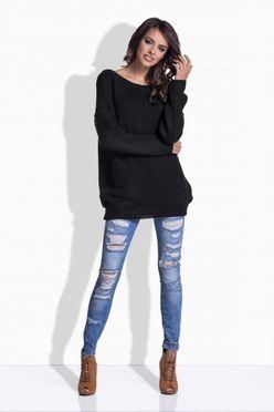 Čierny sveter so saténovou mašľou 176