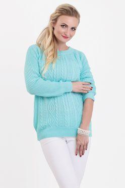 Mätový vzorovaný dámsky sveter SANDY