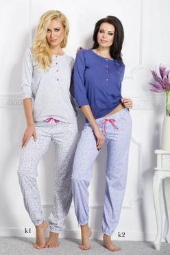 Modré pyžamo Teresa 1026 vzor k2
