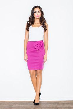 Puzdrová sukňa v odtieni fuksia M080