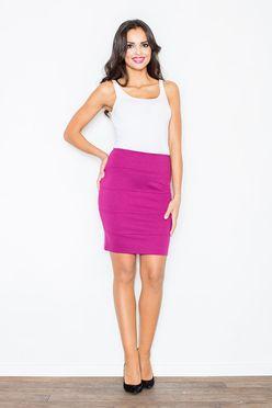 Puzdrová sukňa vo farbe fuksie M084