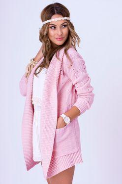 Ružový sveter WERA