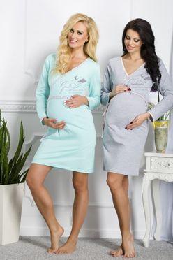 Tyrkysová tehotenská košeľa Asia 113
