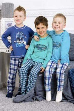 Tyrkysové pyžamo Damian 1034 k2