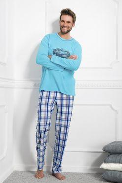 Tyrkysové pyžamo Leon 1173 vzor k2