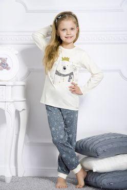 Biele dievčenské pyžamo ELZA
