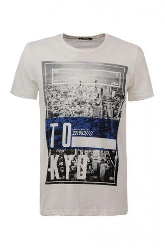 Biele pánske tričko MPO2054