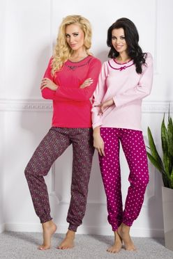 Bordové dámske pyžamo Ismena 869