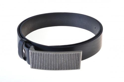 Celokožený pánsky opasok v čiernej farbe PM-4-ČP10