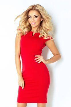 Červené dámske puzdrové šaty 132 2 fa2c88554b6